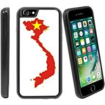 [Map and Flag of Vietnam] For Apple iPhone 7 / iPhone 8 (4.7 inches) Hybrid Heavy Duty Armor Shockproof Silicone Cover Rugged case