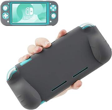 KIWI design Funda Protectora para Nintendo Switch Lite 2019, Funda de Silicona Suave Antideslizante y Antiarañazos Funda de Goma para Nintendo Switch Lite (Gris): Amazon.es: Electrónica
