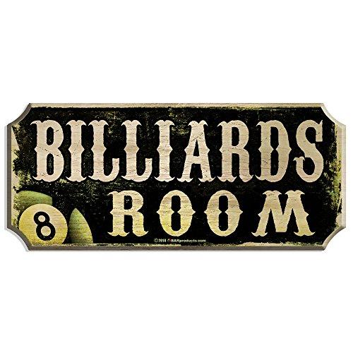 BARCONIC Wood Plaque Bar Sign - Billiards Room