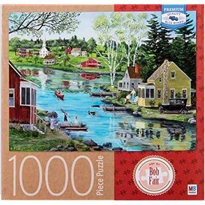 Glass Lake, by Bob Fair, 1000 Piece Jigsaw Puzzle: Toys & Games