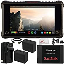"""Atomos Ninja Inferno 7"""" 4K HDMI Recording Monitor 7PC Bundle – Includes SanDisk 240GB Extreme Pro Solid State Drive + 2x Replacement Batteries + MORE"""
