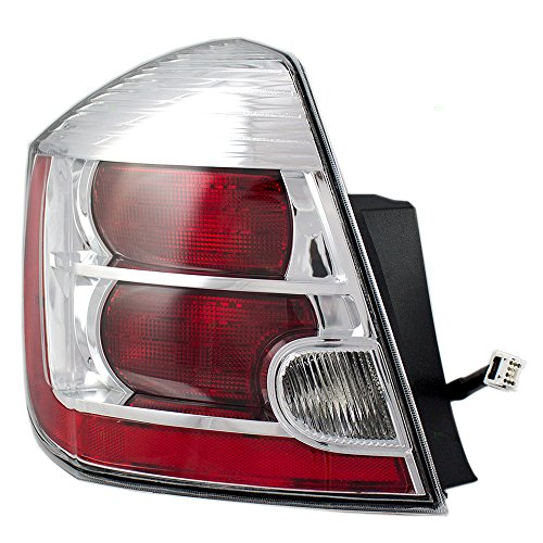 - Drivers Taillight Tail Lamp with Chrome Trim Replacement for Nissan 26555-ZT50A AutoAndArt