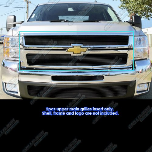 - APS Compatible with 2007-2010 Chevy Silverado 2500 3500 Black Billet Grille Insert C65774H