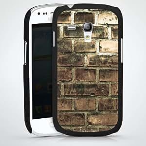 Carcasa Design Funda para Samsung Galaxy S3 Mini I8190 HardCase black - Brick Wall