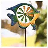 Panacea Products 87065 Spinner Lawn Ornament, Multi-Color Fish, 52 x 15.5-In. - Quantity 4