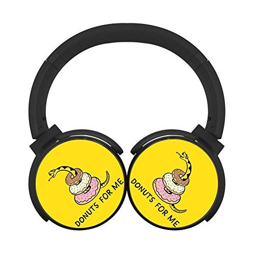 Price comparison product image MagicQ Donuts For Me Bluetooth Headphones,Hi-Fi Stereo Earphones Black