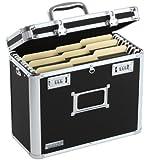 Vaultz Locking Personal File Tote for Letter Size Documents, Black (VZ01187)