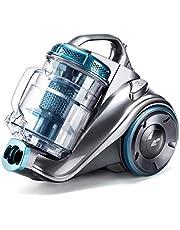 PUPPYOO WP9002F Aspirador sin Bolsa (800W, Incluye 3 cepillos, Radio de operación de 7,5m, contenedor de Polvo de 2,0L, Filtro HEPA Lavable) Azul y Gris [Clase de eficiencia energética A]