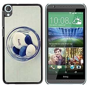 Be Good Phone Accessory // Dura Cáscara cubierta Protectora Caso Carcasa Funda de Protección para HTC Desire 820 // Doctor Love Minimalist Blue White