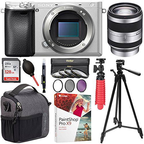 Sony ILCE-6300/S a6300 4K Mirrorless Camera Bundle Includes 18-200mm F3.5-6.3 OSS Alpha E-Mount Interchangeable Lens, Tamrac Tradewind Bag, Sandisk Ultra SDXC 128GB Memory Card, Tripod and More! Review