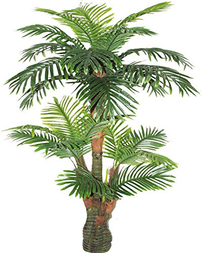 AMERIQUE Gorgeous & Unique 5 Feet Tropical Palm Artificial Plant Silk Tree, Real Touch Technology, with UV Protection, Super Quality, 5', Green (Tree Artificial Outdoor)