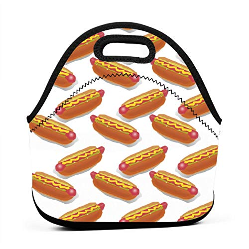 AGRBLUEN Great Gift - Portable Outdoor Cool Hot Dog Bento Bag Hand Lunch Bag Baby Pouch Tote Multifunctional Handbag for Student Worker Travel Mummy Bag -