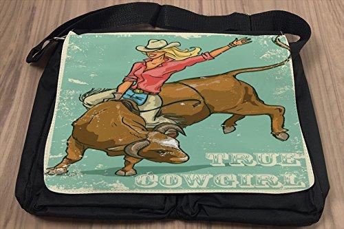 Borsa Tracolla Nostalgico Stile Occidentale Vera Cowgirl Stampato