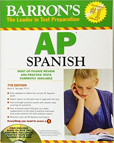 Amazon barrons ap spanish with audio cds and cd rom barrons ap spanish with audio cds and cd rom 7th edition fandeluxe Image collections