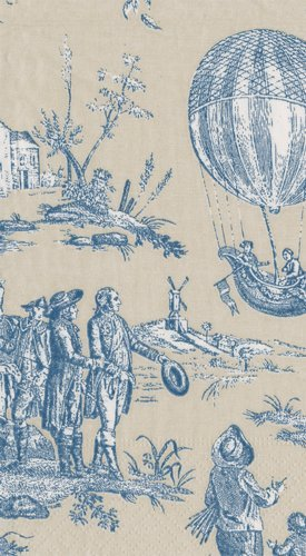 Hand Towels Paper Guest Towels French Country Decor French Provincial Blue Toile Pk 30