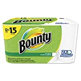 Bounty 95032 Perforated Towel Rolls 2-Ply White 11 x 10 1/5 50 Sheets/Roll 12 Roll/Pack
