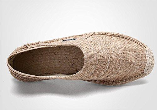 khaki canapa Espadrillas traspirante XIE 39 in Scarpe tela uomo 43 Scarpe di in moda di traspirante corda da Oxxnq8T1