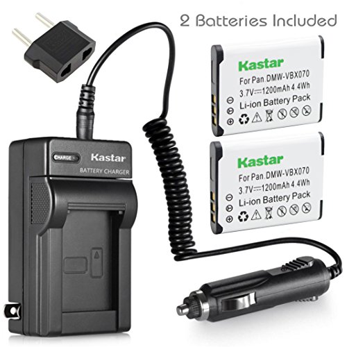 Xacti Camera Battery - Kastar Battery 2-Pack and Charger for Sanyo Xacti VPC-GH2 VPC-GH3 VPC-GH4 VPC-PD1 VPC-PD2 VPC-PD2BK VPC-X1200 VPC-X1220 VPC-X1420 ICR-XPS01MF ICR-XPS03MF ICR-XRS120MF DMX-CS1S DMX-GH1 VPC-CG100 Camera