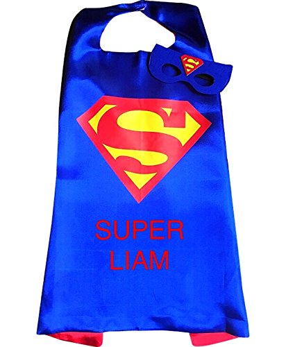 Personalized Superhero Embroidered Cape and Mask Set by Thimbleful Threads (