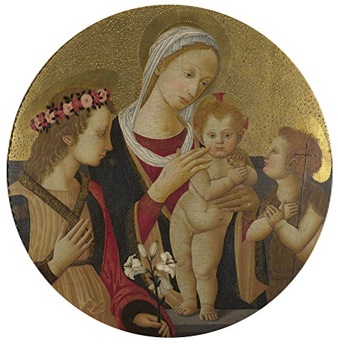 Florentine Wastebasket - 'Italian Florentine The Virgin And Child With Saints ' Oil Painting, 10 X 10 Inch / 25 X 26 Cm ,printed On High Quality Polyster Canvas ,this Reproductions Art Decorative Prints On Canvas Is Perfectly Suitalbe For Kitchen Decor And Home Decoration And Gifts