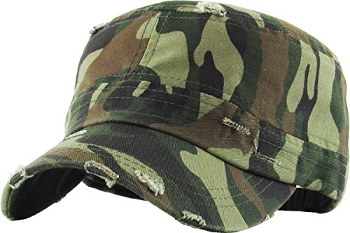 KBETHOS KBK-1466 CAM Pure Cotton Twill Adjustable Cadet GI Hat
