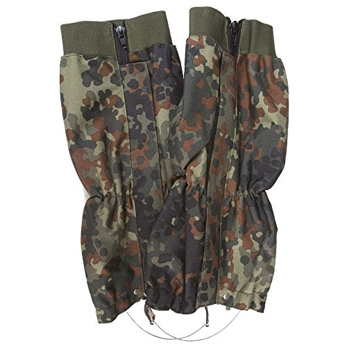 Mil-Tec Flecktarn Waterproof Gaiters (Flecktarn) by Mil-Tec