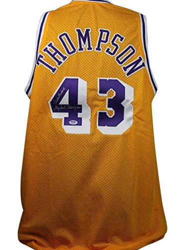 ec74c8f2581b Lakers Mychal Thompson  Showtime  Signed Yellow Jersey ITP - PSA DNA  Certified -