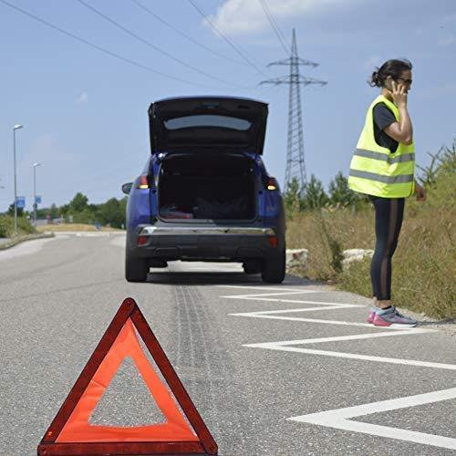 Gelb Warnwesten Auto Sicherheitsweste Reflektierende Pannenweste f/ür Erwachsene KFZ EN ISO 20471 4 St/ück