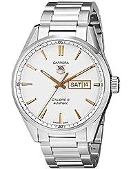 TAG Heuer Mens WAR201D.BA0723 Carrera Analog Display Analog Quartz Silver Watch