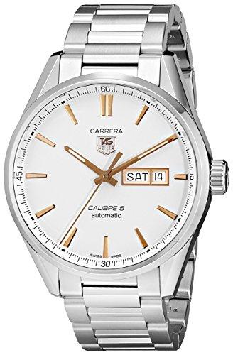 TAG Heuer Men's WAR201D.BA0723 Carrera Analog Display Analog Quartz Silver Watch (Wrist Watch Quartz Tag Heuer)