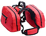 BINGPET Dog Harness Backpack Doggie Saddlebags