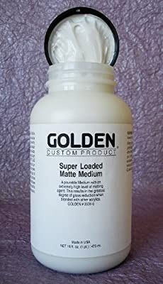Golden Acrylic Super Loaded Matte Medium - 128 oz Jar