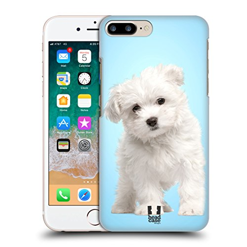 Head Case Designs Maltese Puppy Popular Dog Breeds Hard Back Case for Apple iPhone 7 Plus / 8 Plus