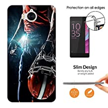 002671 - Awesome American Football Player Helmet Sports Design Huawei Y5 (2017) Fashion Trend CASE Ultra Slim Light Plastic 0.3MM All Edges Protection Case Cover-Clear