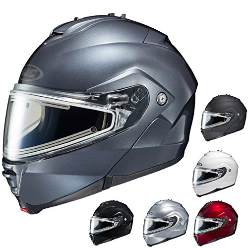 Helmet Silver Shield (HJC IS-MAX II Silver Snowmobile Electric Shield Motorcycle Helmet M)