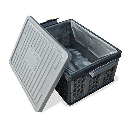 Organizador de maletero de coche plegable caja de almacenamiento grande de plástico con bolsa impermeable para el hogar,...
