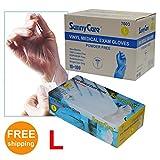 Sunnycare #7603 Vinyl Medical Exam Gloves Powder Free Size: Large 1000pcs/case ;100pcs/box;10boxes/case