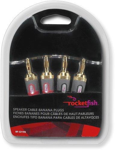 Amazon Rocketfish Speaker Cable Banana Plugs 4 Pack Red