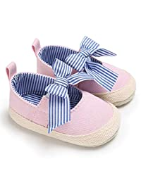 Liobaba Bow-Knot Infant Soft Soled Anti-Slip Shoes Cotton Shoes Babys Girls Solid Color Shoes Soft Material