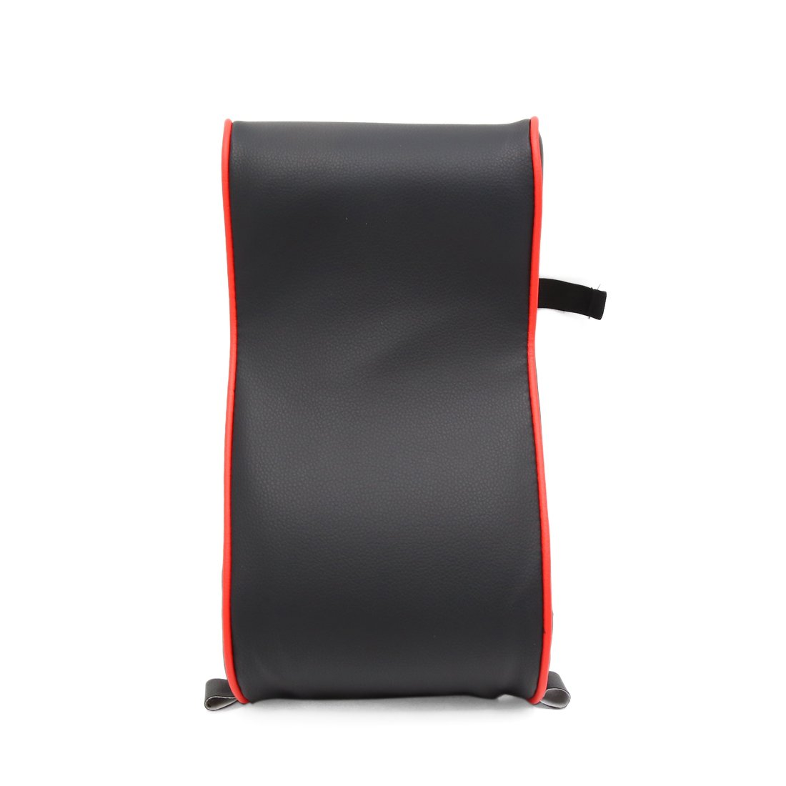 uxcell Black Red Faux Leather Universal Multifunctional Armrest Pad Cushion for Car SUV