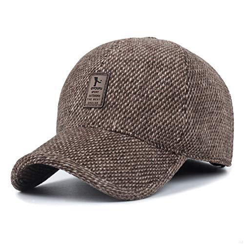 SLBGADIEME Winter Baseball Cap Ear Cover Hats Cotton Dad Hat Fashion Hats  for Men Style Running 73a40b588cce