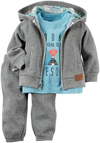 Carter's Baby Boys 3 Pc Sets, Heather, 9 Months