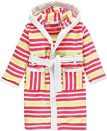 Albornoz infantil de algodón de rizo con capucha, para niño, 100% algodón, 3 años: Amazon.es: Hogar