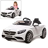 Official Licensed Mercedes Benz Ride On Car 12V With Remote Control For Kids | AMG S63 Kid Car To Drive With 2.4G Radio Control White