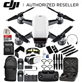 DJI Spark Portable Mini Drone Quadcopter Fly More Combo Everything You Need Bundle (Alpine White)