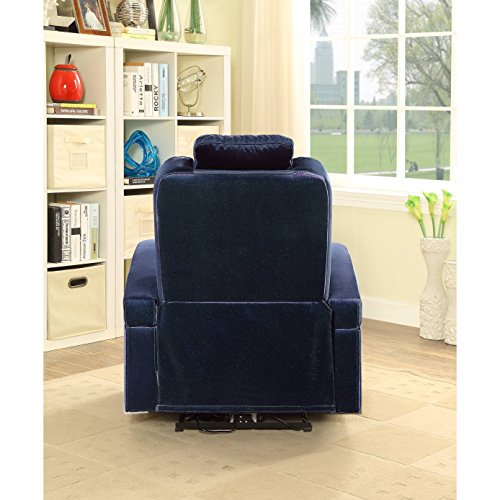 Major-Q 9059580 Contemporary Style Pocket Recliner Power Button and USB Charge Dock Armrest