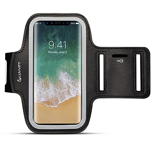 iPhone X Luvvitt Armband iPhone X Sport Exercise Band Key Holder Pocket Apple iPhone X 10 (2017) - Black