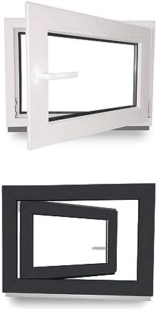 wei/ß 3-Fach-Verglasung Fenster Lagerware BxH 1200x600 // 120x60 DIN Links Kunststoff Wunschma/ße m/öglich Kellerfenster