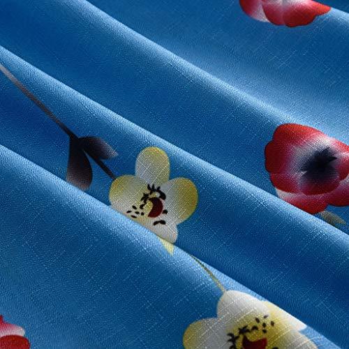 Blu Con Estate 2019 Tempo Stampato Forti Sconto V Il Scollo Libero Per Fiore Tendenza Girocollo Abito Moda A Da Taglie Primavera Donna vxwq1px8RE