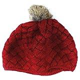 niceEshop(TM) Baby Infant Knit Beanie Crochet Rib Pom Pom Warm Hat Cap , Red